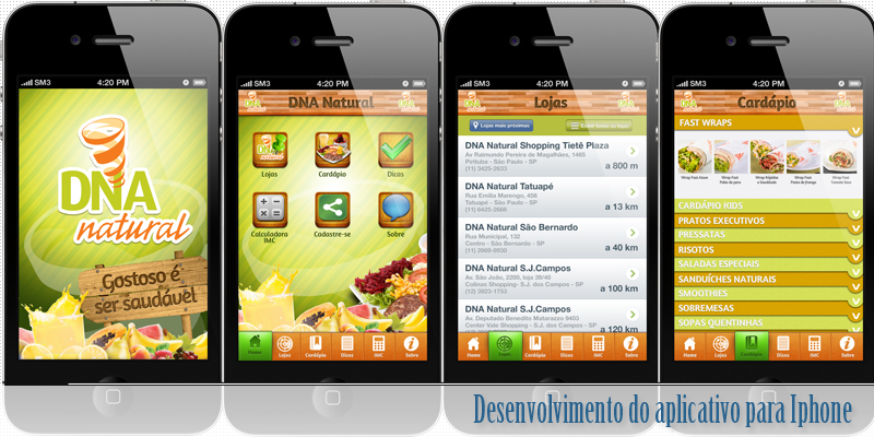 Aplicativo iOS DNA Natural